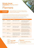 Climate change adaptation: Briefing note 3 Planners