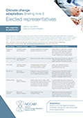 Climate change adaptation: Briefing note 6 Elected representatives