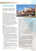 Key Findings: Drought and Water Security: Kalgoorlie and Broken Hill
