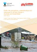 Public risk perceptions, understandings, and responses to climate change and natural disasters in Australia and Great Britain: Interim report