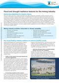 Flood and drought resilience lessons for the mining industry
