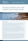 Policy Guidance Brief: Ensuring Australia's urban water supplies under climate change