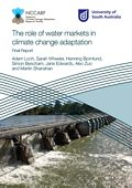 The role of water markets in climate change adaptation