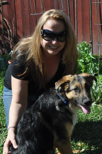 Alicia Kowal and her dog Harper