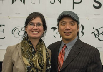 George Lim and Angela Serravo, Principal Partners at Tengram Design LLC, spoke to a large group of design students on campus Nov. 18 of 2014.