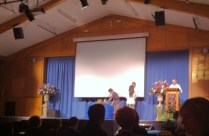 Stella Lu collecting her award for junior musician of the year
