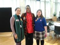 Rebekah, High Commissioner of South Africa and Helen Potiki