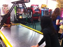 Tourism spent Thursday morning at an arcade before spending the afternoon at the zoo