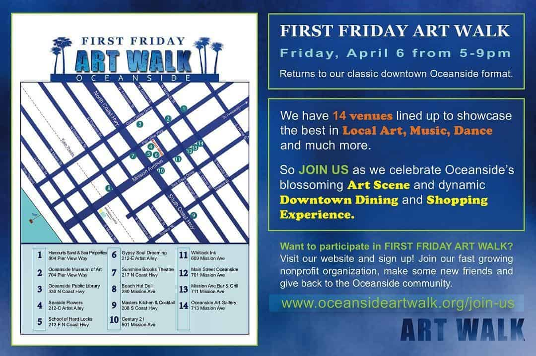 First Friday Art Walk Oceanside April 6th North County Daily Star