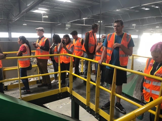 edco is on the road to zero waste vista residents visit facility