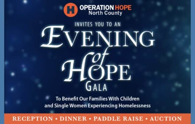 Operation HOPE-North County Announces 2019 Evening of HOPE Honorees