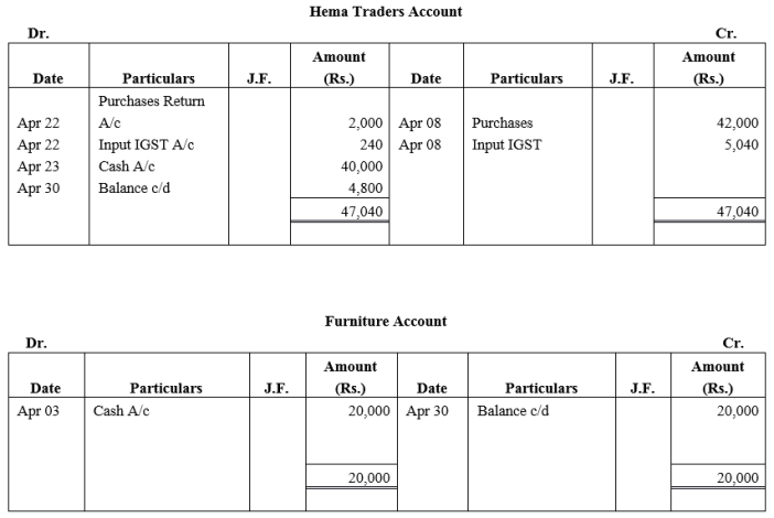 TS Grewal Accountancy Class 11 Solutions Chapter 6 Ledger - 49