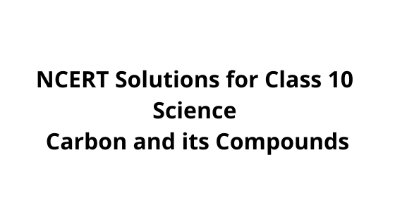 NCERT Solutions for Class 10 Science Carbon and its Compounds
