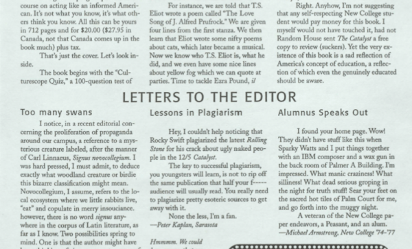 Letter to the editor: Take action in regard to the recent