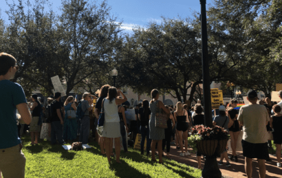 Hundreds gather in downtown Sarasota protest against Trump following national backlash to election