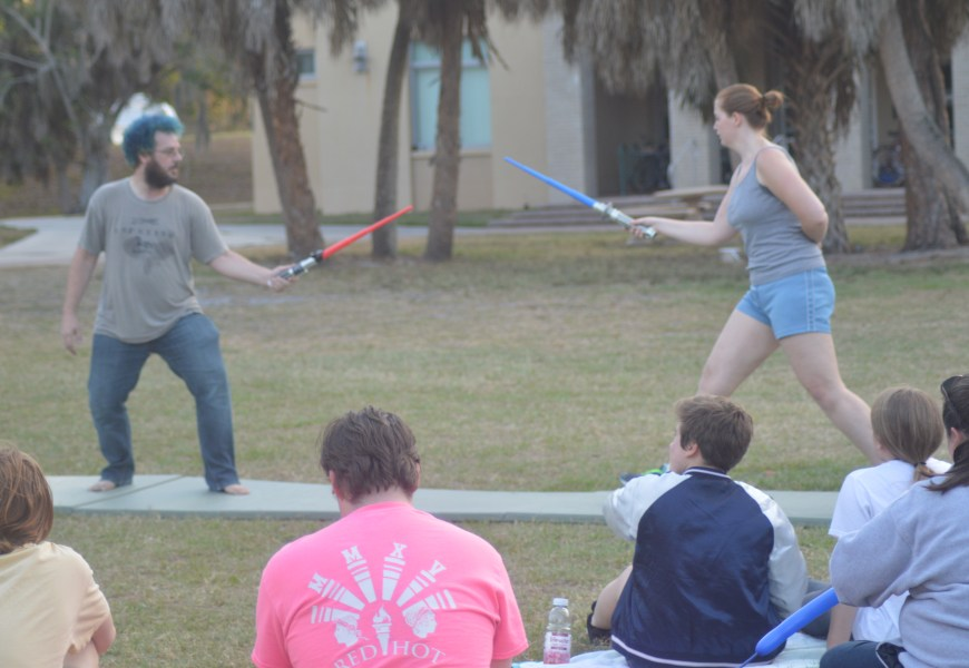 "May the Fourth be with you: New College Celebrates ""Star Wars"" day."