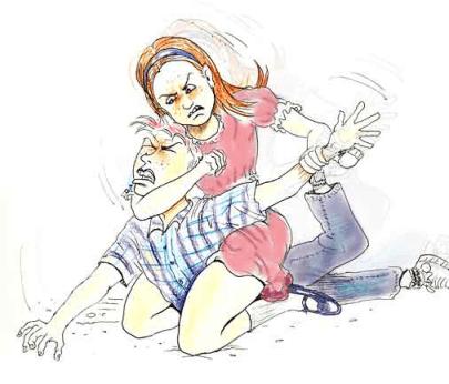 abusive wife