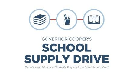 Governor Cooper's School Supply Donation Drive