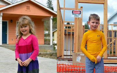 Evie and Eli – NCHFH's youngest donors want kids to have a safe place to call home