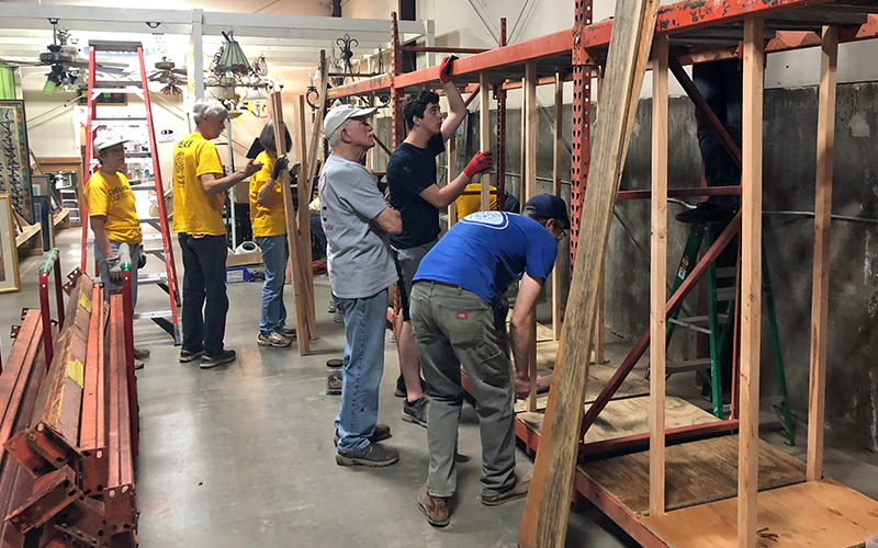 LiNC volunteers give ReStore a Spring makeover