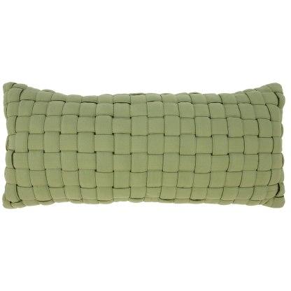 Soft Weave Pillow - Light Green