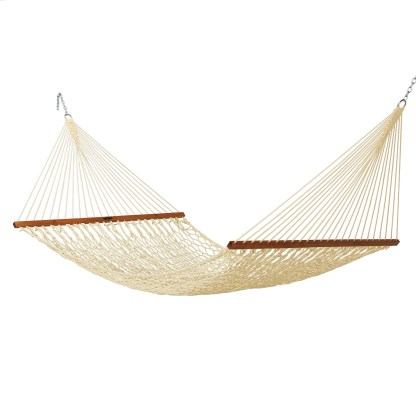 Deluxe Duracord Rope Hammock - Oatmeal - 14DCOT
