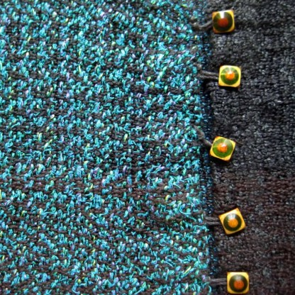 Black and teal infinity scarf