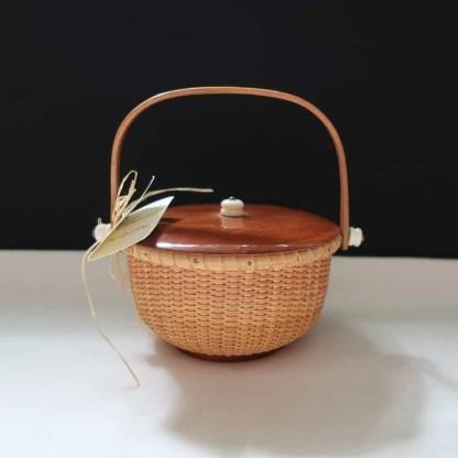 "4"" Nantucket Basket - Squared Handle"
