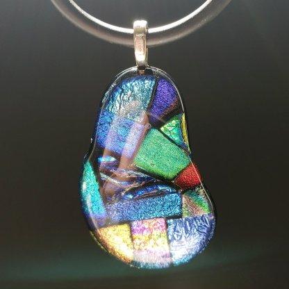 dichroic jellybean pendant