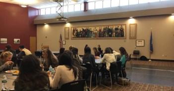 Students attend the luncheon to hear Kathy Giusti speak  Photo by Meera Srinivasan