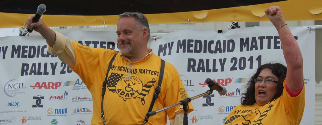 Bruce Darling and Rahnee Patrick at the 2011 My Medicaid Matters Rally