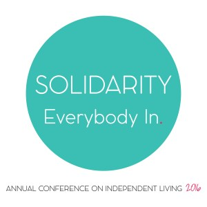 Logo - Solidarity - Everybody In - Annual Conference on Independent Living 2016