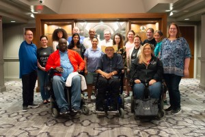 2019 NCIL Board - 19 people pose for a group photo