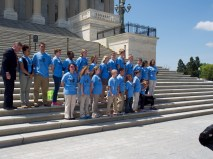 NCLA Student Ambassadors at the US Capitol