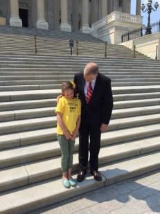 Katie Johnsen and Senator Tillis