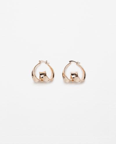 Twisted hoop earrings Zara S:S 16