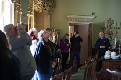 A private tour allowed us to experience the ornate details within the castle