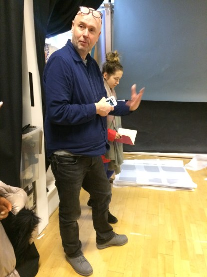 James Pfaff explains the process of preparing for his exhibition