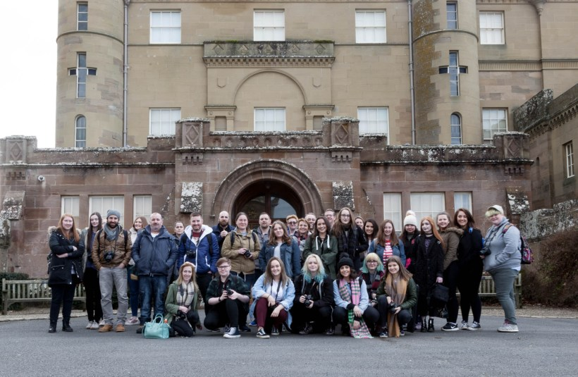 HNC Photography Class Group at Culzean Castle