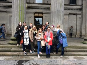 HND Photography Students stop for a group photo outside the GOMA