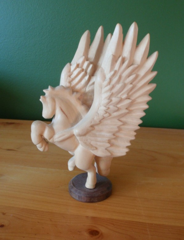 Carved pegasus