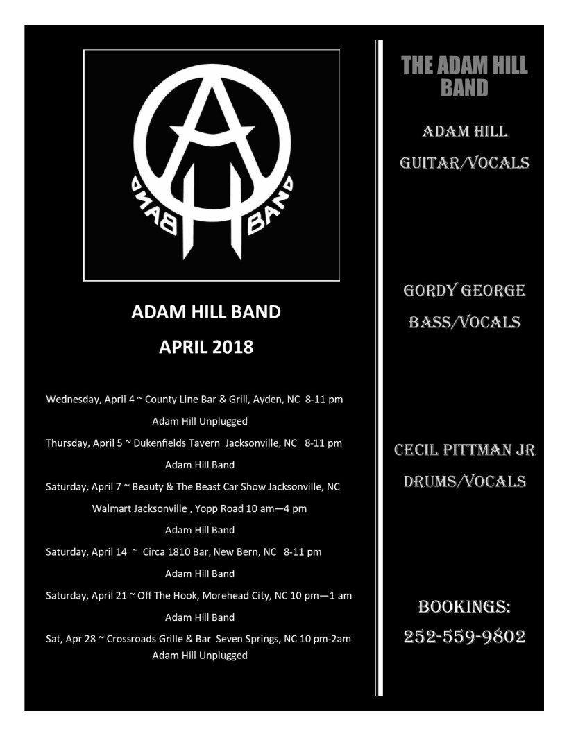Adam Hill Band Spring 2018 Ad.pub