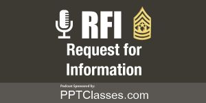 """RFI: Upcoming Podcast, """"Who is training the Platoon Leader?"""""""