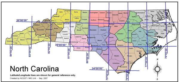 Our State Geography in a Snap Location NCpedia