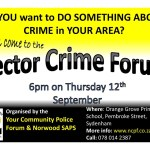 Reminder of Sector Crime Forum