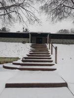 NC Pool entry steps in winter
