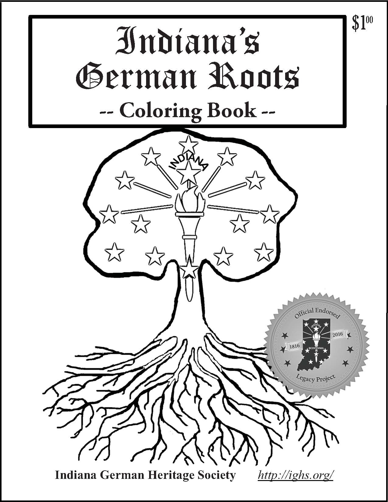 Indiana German Roots Coloring Book