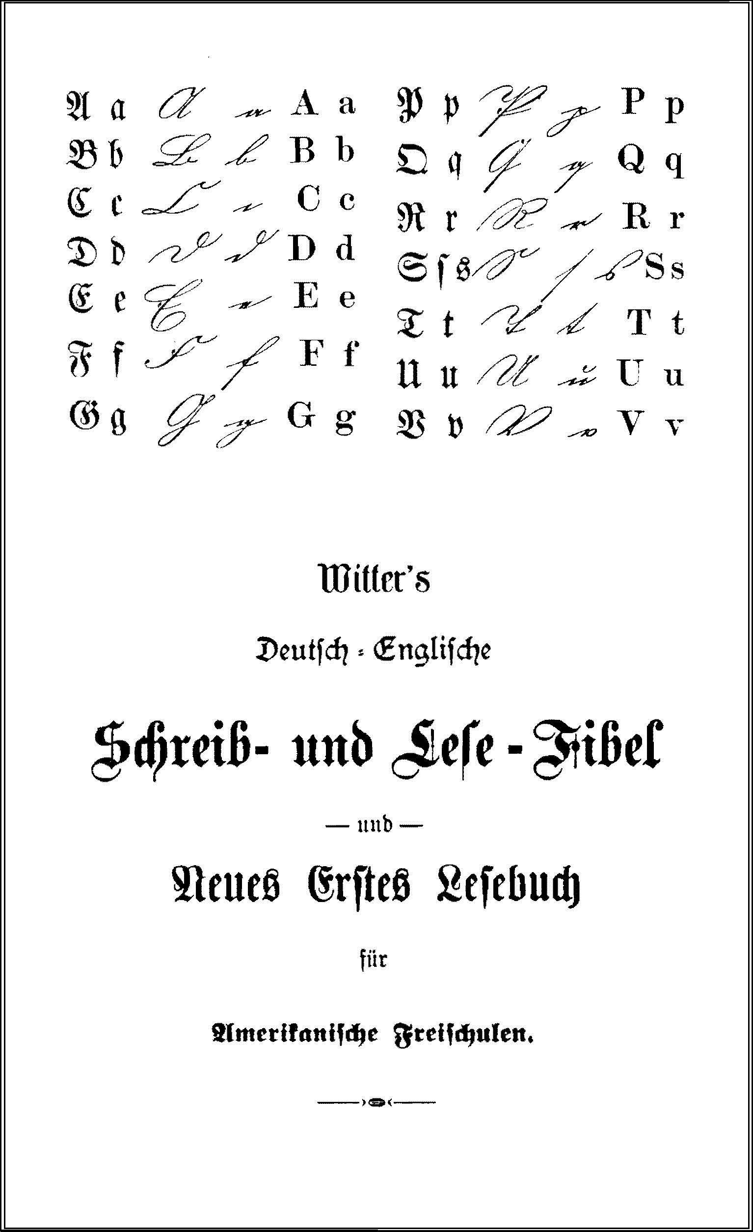 Witter Schreib und Lese Fibel