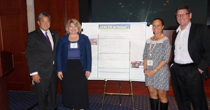 SENCER Hawaii team and Representative Mark Takano at the 2015 Capitol Hill Poster Session