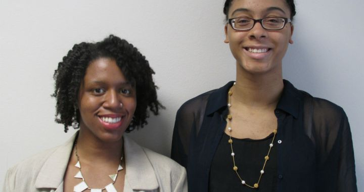 Dara Wilson, the Informal Science Education Partnership Programs Assistant, pictured left, and Mawusi Bridges, the Faculty Development Events Assistant, pictured right.